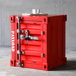 Industrial Steel Safe Storage Container And Side Table