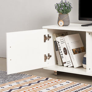 Contemporary White Wooden TV Stand