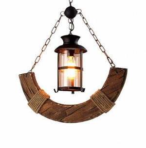 Solid Wood Farmhouse Chandelier