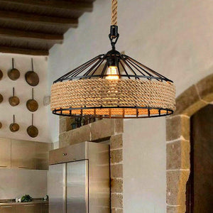 Hemp Rope Hanging Lamp