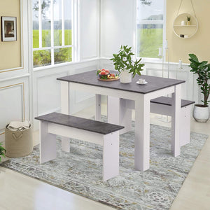 Marble Effect Dining Set