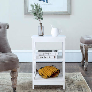 Dakota Side Table - White
