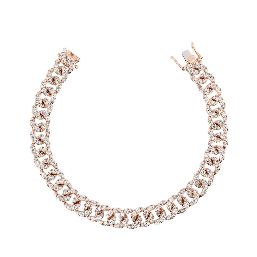 Rose Gold & Diamond Cuban Link Bracelet