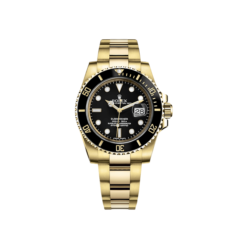 Rolex Submariner Date 40mm Yellow Gold Black Dial 116618LN