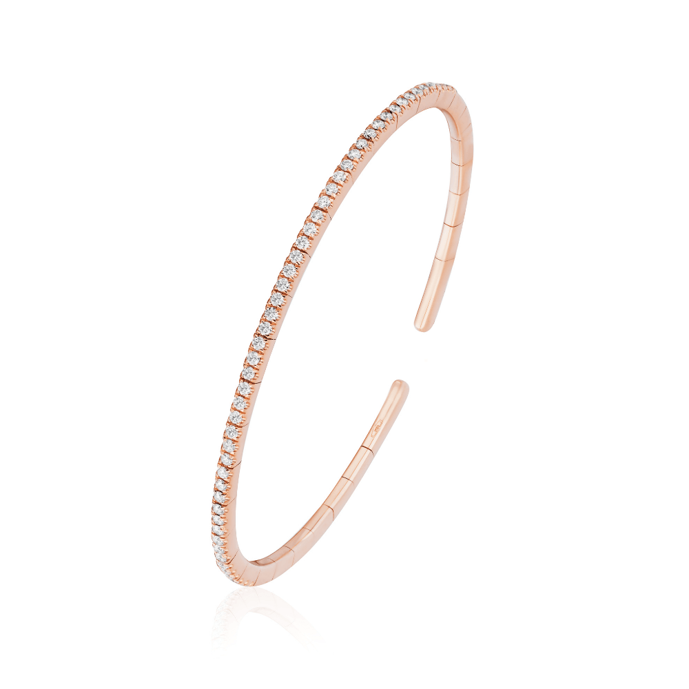 Rose Gold & Diamond Cuff