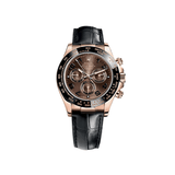 Rolex Daytona 40mm Rose Gold Chocolate Dial Leather Strap 116515LN