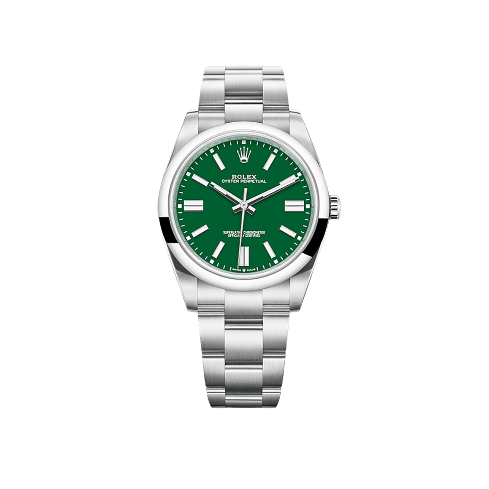 Rolex Oyster Perpetual 41 MM Green Dial 124300