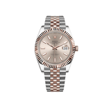 Rolex Datejust 41mm Steel & Rose Gold Sundust Dial W/ Fluted Bezel 126331