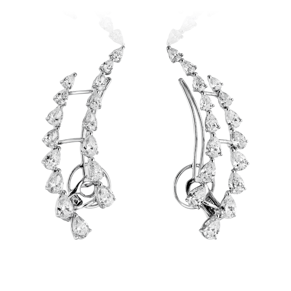 White Gold & Diamond Ear Cuffs