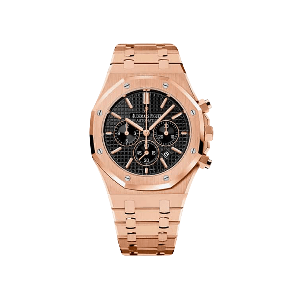 Audemars Piguet Royal Oak Chronograph Rose Gold - Black Dial 26320OR.OO.1220OR.01