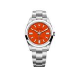 Rolex Oyster Perpetual 41mm Domed Bezel Red Dial 124300