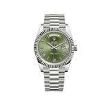 Rolex Presidential Day-Date 40mm 18k White Gold Green Roman Dial 228239