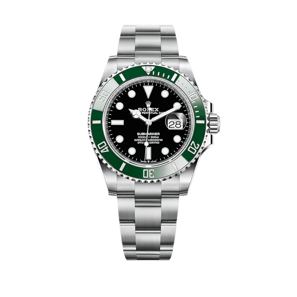 Rolex Submariner Date Kermit 41mm Steel Green Bezel Black Dial 126610LV