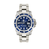 Rolex Submariner White Gold - Blue Dial with Sapphire and Diamond Bezel 116659SABR