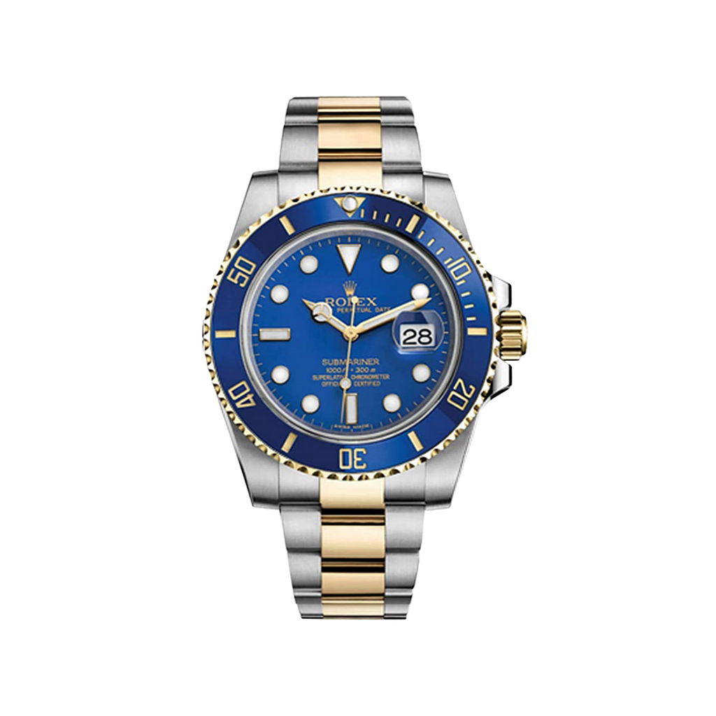 Rolex Submariner Date 40mm Yellow Gold Steel Blue Dial 116613LB