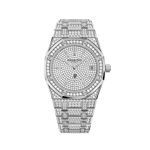 Audemars Piguet Royal Oak 'Jumbo' Extra-Thin Diamond Dial & Bracelet 15202BC.ZZ.1241BC.01