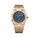 Audemars Piguet Royal Oak 39MM 'Jumbo' Extra-Thin Rose Gold Blue Dial 15202OR.OO.1240OR.01