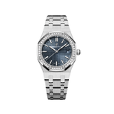 Audemars Piguet Royal Oak 34MM Stainless Steel Blue Dial Diamond Bezel 77351ST.ZZ.1261ST.01