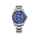 Rolex Submariner Date 40mm White Gold Blue Dial Blue Bezel 116619