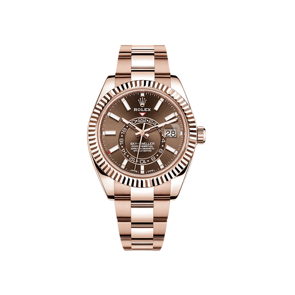 Rolex Sky-Dweller Rose Gold - Chocolate Dial 326934