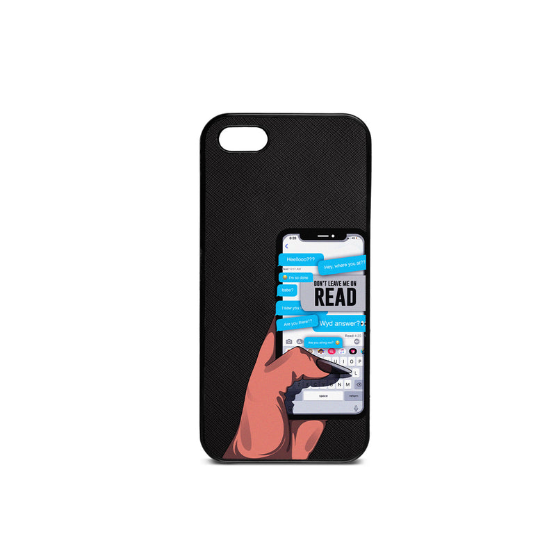 Leave Me On Read Phone Case - Black