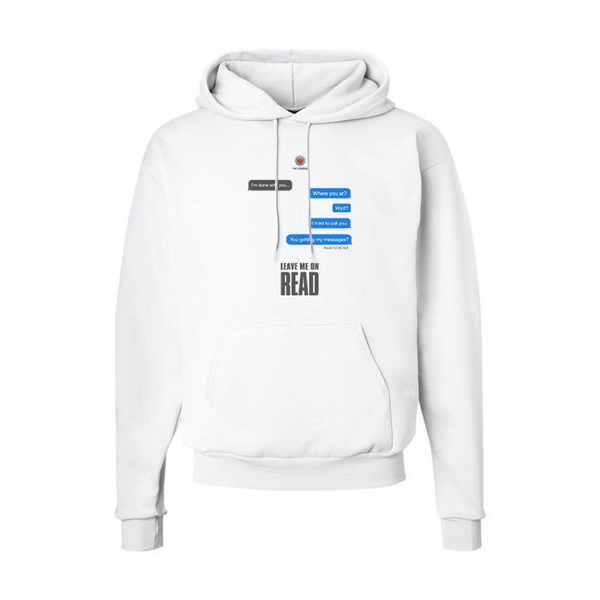 Leave Me On Read Hoodie - White