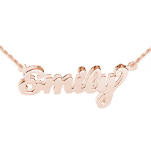 Double 3-D Name Pendant