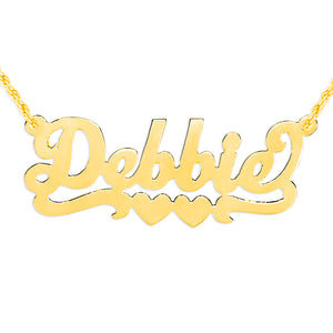 Personalized Hand Cut Name Necklace