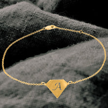 Load image into Gallery viewer, Diamond Shaped Initial Anklet