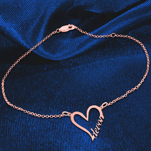 Personalized Heart Anklet