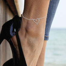 Load image into Gallery viewer, Personalized Heart Anklet