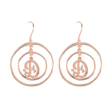 Load image into Gallery viewer, Chandelier Single Initial Circle Earring