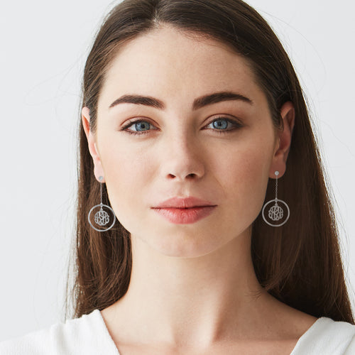 Chain Monogram Earrings