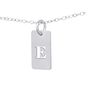 Personalized Cut Out Initial Pendant Tab