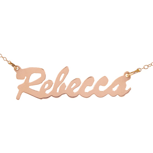 Bold Script Name Necklace
