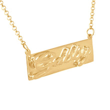 Load image into Gallery viewer, 3-D Classical Nameplate Necklace