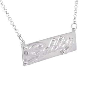3-D Classical Nameplate Necklace