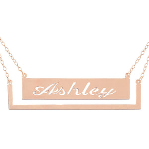 Name Necklace with a floating frame