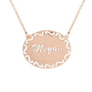 Filigree Oval Name Necklace