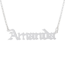 Load image into Gallery viewer, Gothic Name Necklace