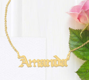 Gothic Name Necklace