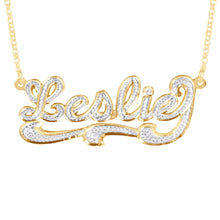 Load image into Gallery viewer, Diamond Look Script Necklace