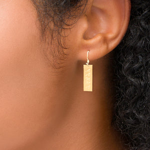Personalized Earrings with Vertical Name