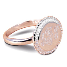 Load image into Gallery viewer, Accent Engraved Monogram Ring