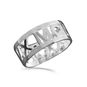Roman Numeral Band Ring