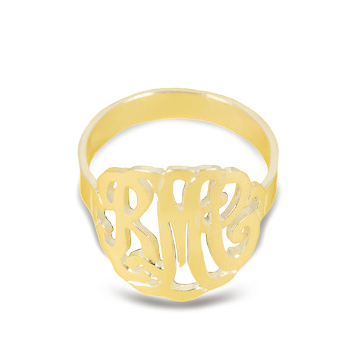 Curved Monogram Ring