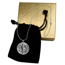 Load image into Gallery viewer, Pierced Monogram Necklace