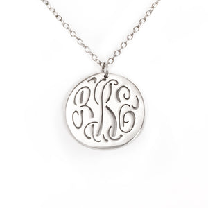 Pierced Monogram Necklace