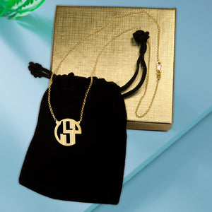 Deco-Style Monogram Necklace