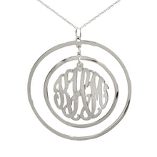 Load image into Gallery viewer, Circular Chandelier Monogram Necklace